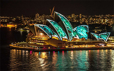 Vivid Sydney 2019 - Sydney Opera House Covered in lights